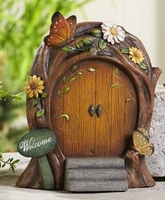 Round Resin Butterfly Fairy Door $22.99