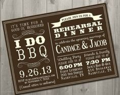 "Rehearsal dinner invites ""I DO BBQ"" - Wedding Rehearsal Dinner Invitation - DIY Printable Invitation"