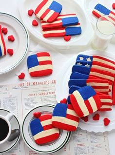 SugaryWinzy Red White and Blue Flag Cookies