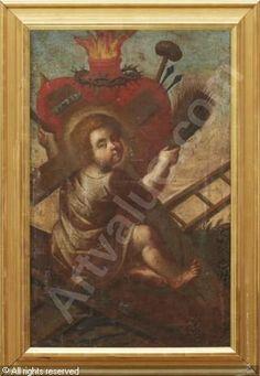 Circle of HERRERA Francisco de, el Viejo, 1576-1656 - Jesusbarnet med arma Christi