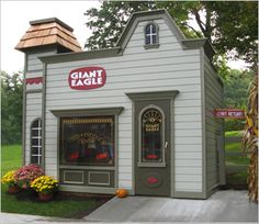 Lilliput Play Homes Custom Homes Giant Eagle play grocery store!!  OMG, YOU CAN HAVE A WHOLE TOWN!!  LOL  TURN OF THE CENTURY GROCERY