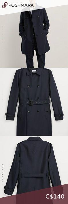 Zara Men's Trench Coat Brand new, with tag! Paid $189.00'+ tax. Navy blue. Condition 10/10. Zara Jackets & Coats Trench Coats Short Trench Coat, Trench Coat Men, Cropped Hoodie, Sweater Hoodie, Navy Coat, Zara Man, Zara Jackets, Zara Black, Navy Blue