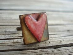 sUbLiMe piNk heArt riNg by sUrPriSedeLiGhtjOy on Etsy, $8.00