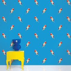 Push Pops Blue Removable Wallpaper is peel and stick. It is the easiest and quickest way to decorate any home or business.