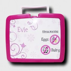 Personalised Lunchbox (with allergy warning)