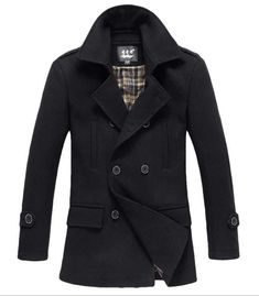 Men's Fashion Winter 2013: The Foster Wool Peacoat Black!