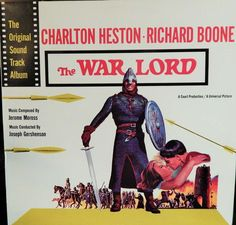 "WAR LORD  12"" VINYL LP MINT 1970S JAPAN REISSUE ORIGINAL SOUNDTRACK (1965 MUSIC JEROME MOROSS)"