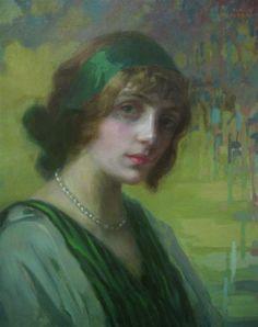 Kimon Loghi - Woman in Green