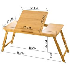 Large Bed Tray NNEWVANTE Adjustable Lap Desk Tilting Top Foldable Table Multi-tasking Stand Breakfast Serving Bamboo Supports up to Computer/Tablet(Smooth Flat) Woodworking Projects Diy, Diy Wood Projects, Wood Crafts, Folding Furniture, Wood Furniture, Modern Furniture, Furniture Layout, Upcycled Furniture, Bed Tray Diy
