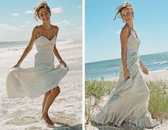 Nicole Miller's casual but elegant designs are perfect for a beach wedding. Available at some NH bridal shops.