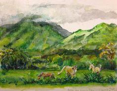 Studio Melle: Horse Pasture near Lumahai