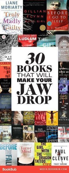 30 books that will make your jaw drop, including bestselling psychological thrillers and thriller books with plot twists with plenty of suspense. If you love the thrill of reading a book packed with twists, you've come to the right place. Books And Tea, I Love Books, Books To Read, Big Books, Small Things Blog, Book Suggestions, Book Recommendations, Reading Lists, Book Lists
