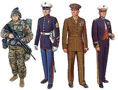Marines Google Image Result for http://upload.wikimedia.org/wikipedia/commons/thumb/e/e1/USMC_uniforms.jpg/350px-USMC_uniforms.jpg