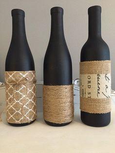 Wine Bottle Vase DIY 62