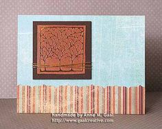 Copper Trees Embossed Resist Card by Anne Gaal of Gaal Creative at http://www.gaalcreative.com - Feel free to re-pin! ♥