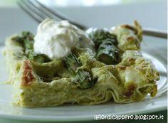 Lasagne con asparagi e burrata Gnocchi, Polenta, Italian Recipes, Pesto, Buffet, Cabbage, Chicken, Vegetables, Italy