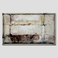 Abstract modern painting Beige Brown Gray Large by Artoosh on Etsy