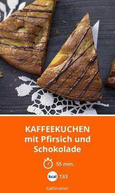 Kaffeekuchen - mit Pfirsich und Schokolade - smarter - Kalorien: 133 Kcal - Zeit: 55 Min. | eatsmarter.de