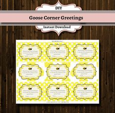 Bumble Bee Baby Shower Diaper Raffle by GooseCornerGreetings
