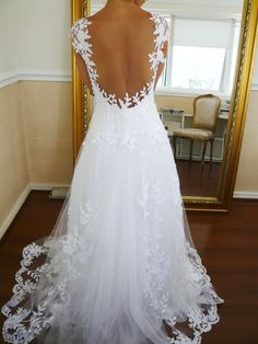 the back of the wedding gown.