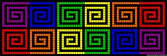 Free Spirals Cross Stitch Pattern