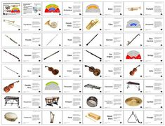 Instruments of the Orchestra Flash Cards