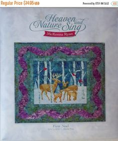 YEAR END SALE McKenna Ryan Heaven & Nature Sing~ First Noel~ Quilt Sewing Pattern~Block 5,Fast Shipping Pt343