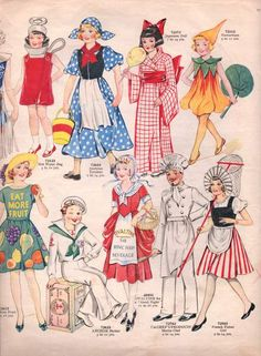 Vintage Sewing Pattern Catalogue – Fancy Dress For Children – Vintage Knitting Pattern Archive