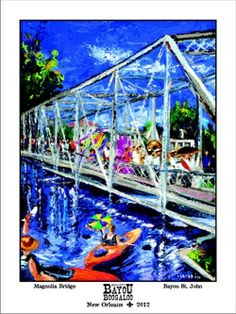 Bayou Boogaloo is free festival in NOLA's mid-city with music, food and lots of art. It's a fun & laid back fest.