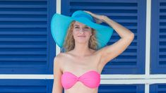 Those #colors ! #Caribbean #model #bikini #hat #blue