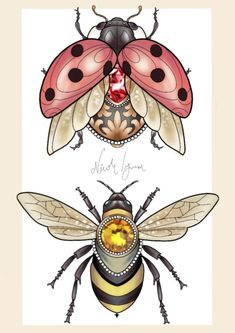 Jewel Bugs print onto thick paper Available in All designs digitally made using Pro Create on the Ipad Pro Gem Tattoo, Lady Bug Tattoo, Jewel Tattoo, Samoan Tattoo, Polynesian Tattoos, Tattoo Ink, Celtic Tattoo Symbols, Celtic Tattoos, Body Art Tattoos