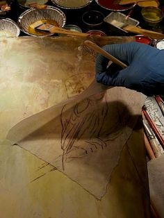 Easy tips to make a charcoal drawing transfer onto an encaustic wax painting Easy Drawings, Pencil Drawings, Contour Drawings, Drawing Faces, Drawing Drawing, Kawaii Drawings, Wax Art, Encaustic Painting, Dot Painting