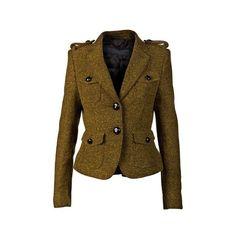 BURBERRY PRORSUM Peplum huntington jacket (45 845 UAH) ❤ liked on Polyvore featuring outerwear, jackets, blazers, burberry, ruffle blazer jacket, tweed peplum jacket, blazer jacket, long sleeve peplum jacket and peplum blazer jacket