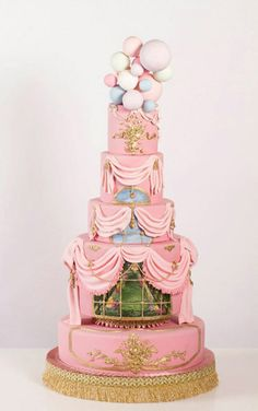 Nadia & Co. Art & Pastry   Flirty in Pink   Rococo Cake Design