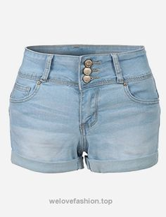 These fitted high rise push up denim jean shorts are a must have! These denim shorts will give you a sculpted silhouette perfect for showing that extra boost you get in the back. Your butt's will neve Warm Outfits, Short Outfits, Summer Outfits, Best Leggings, Tight Leggings, High Waisted Denim Jeans, Jean Shorts, Cute Jeans, Shorts With Pockets