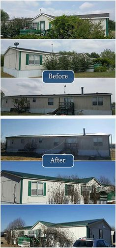A new Metal Roof and new Gutters really improve this home's exterior!