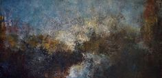 Rocky Passage by Mary Mendla Oil/cold wax/mixed media ~ 18 x 36