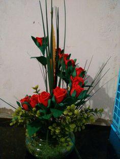 Rosas vermelha de e.v.a
