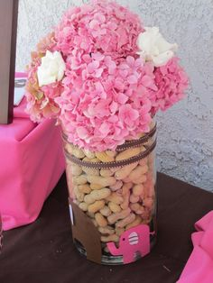 It's A Girl Elephant Theme Centerpiece