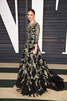 Georgina Chapman. See what all the stars wore to the Academy Awards' biggest after party.