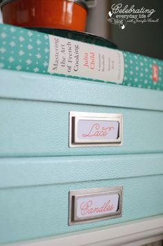 Shagreen storage boxes on {getting organized} Martha Stewart's new home office products + a GIVEAWAY! http://celebratingeverydaylife.com/inspiration/getting-organized-martha-stewarts-new-home-office-products-a-giveaway