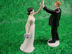 Custom Weddings High Five Bride and Groom by splendorlocity