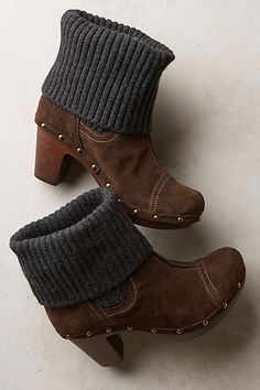 Penelope Chilvers Cuffed Clog Boots #anthropologie