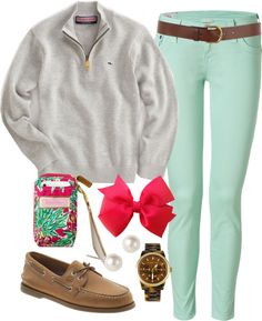 """""""Chilly Spring"""" by classically-preppy ❤ liked on Polyvore"""