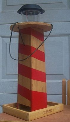 Solar Lighthouse Bird Feeder