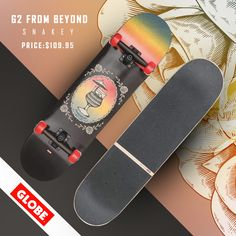 "The G2 From Beyond is a Classic resin-7 complete with ABEC-7 bearings. Featuring full concave, 5.0"" Tensor Alloy trucks with hollow kingpin, 52mm 101a wheels, split black griptape, transparent color fades and raised ink details. 7.75"" x 31"" x 13.8""WB.  Check out for more cool complete skateboard setup at Originboardshop.com  #globeshoes #globeskateboarding #globeskateboards #globecruiser #skater #skateboarding #skatetricks #skatelife #skateshop #instaskater #thrasher #skateboard #skateboards Globe Shoes, Supra Shoes, Complete Skateboards, Skate Decks, Thrasher, Rip Curl, Skate Shoes, Globes"