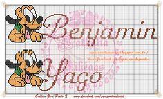 Depois de criar o monograma do Pluto fiz os nomes dos meninos   Da trabalho mas fica lindo!!!!   Créditos do gráfico da Zaré Ponto X .     ...