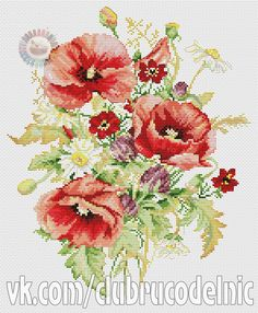 Poppies (575x700, 531Kb)