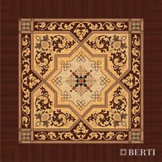 Project by Berti Wooden Floors Laser Inlays.