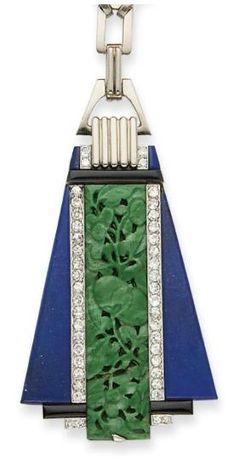 Art deco necklace via Christie's